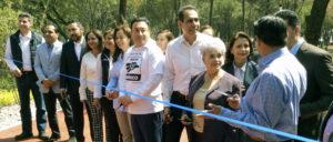 El edil inauguró el Parque Luis Barragán