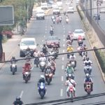 EVITAN POLICÍA DE NAUCALPAN Y GUARDIA NACIONAL RODADA DE 400 MOTOCICLISTAS EN BULEVAR COLOSIO