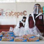 Reúne Ecatepec miles de despensas para entregar a familias de escasos recursos afectadas por pandemia de Covid-19